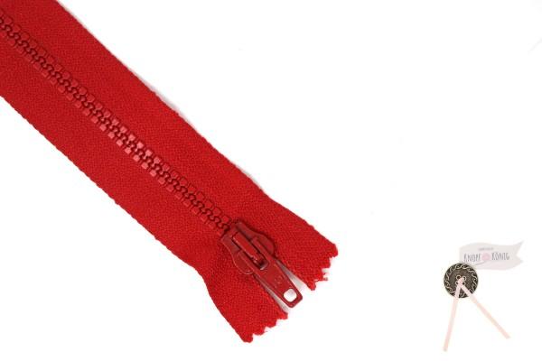 Jackenzipp Dekor rot , Kunststoff 6mm