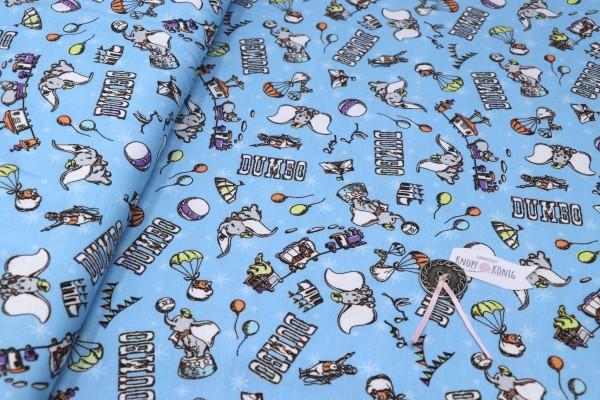Baumwoll-Jersey hellblau, Dumbo klein