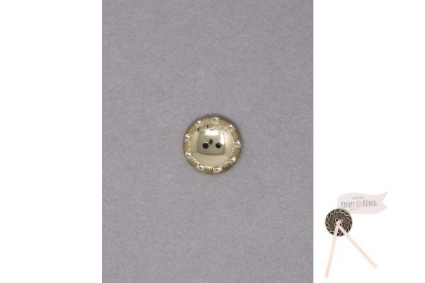 Knopf gold mit geprägtem Rand, 18mm