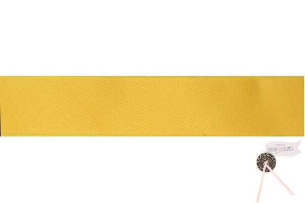 Satinband doppelseitig dunkelgelb, 25mm