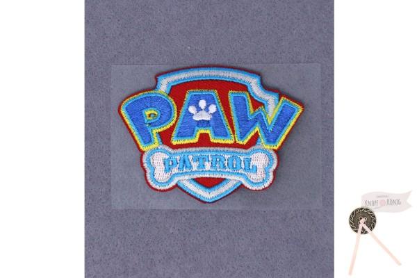 Applikation Paw Patrol Logo, zum Aufbügeln, 4,5x6cm