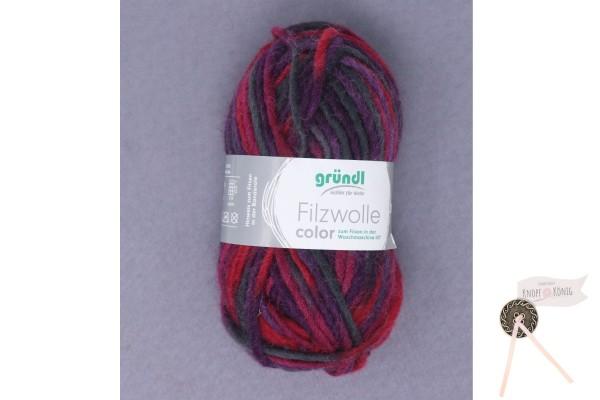 Filzwolle color, lila-bordeaux-anthrazit multicolor