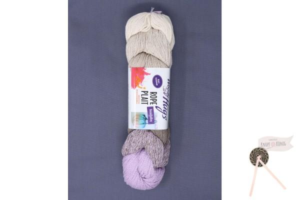 Woolly Hugs, Rope Plait flieder