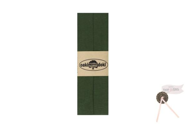 Jersey-Schrägband moosgrün, 3m