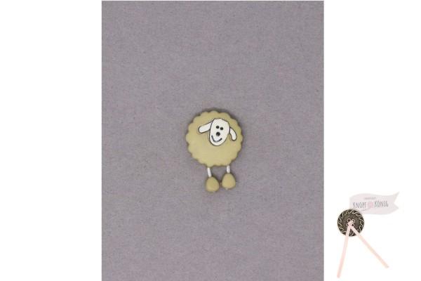 Kinderknopf Schaf, 18mm beige