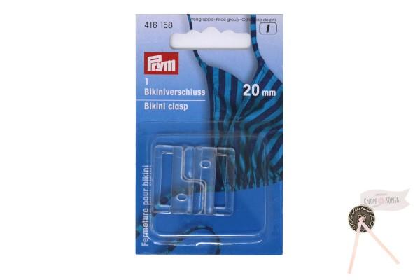 Bikiniverschluss transparent, 20mm