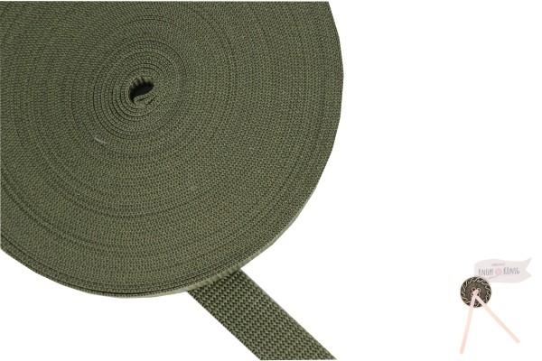 Gurtband Nylon khaki, 20mm