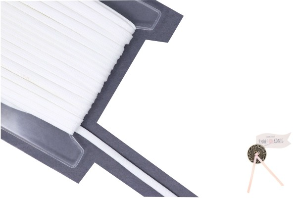 Flachkordel weiß, 10mm