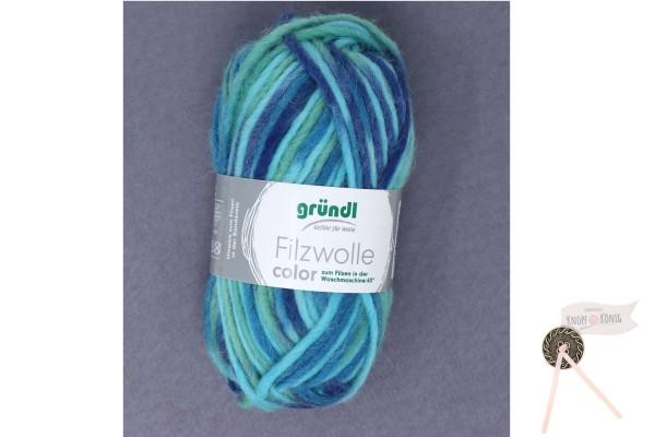 Filzwolle color, aqua multicolor