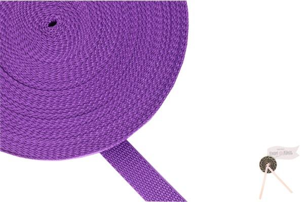 Gurtband Nylon violett, 20mm