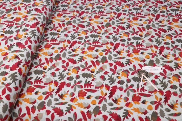 Jerseystoff Herbstblätter