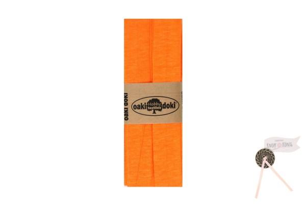 Jersey-Schrägband neon-orange, 3m
