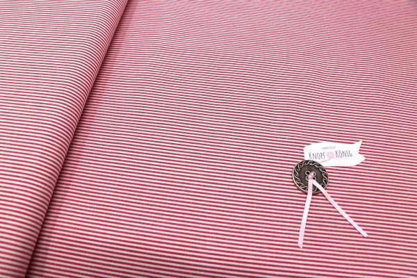 Baumwollstoff Streifen rot-weiß