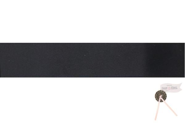 Satinband doppelseitig schwarz, verschiedene Breiten