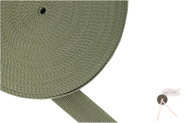 Gurtband Nylon khaki, 30mm