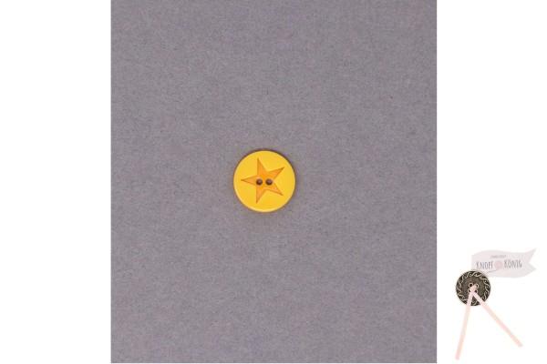 Kinderknopf Stern, 15mm gelb