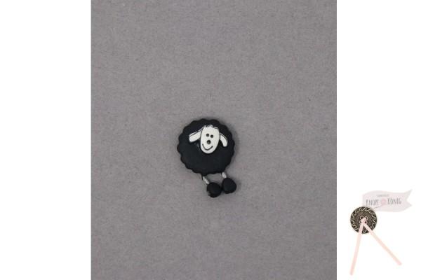Kinderknopf Schaf, 18mm schwarz
