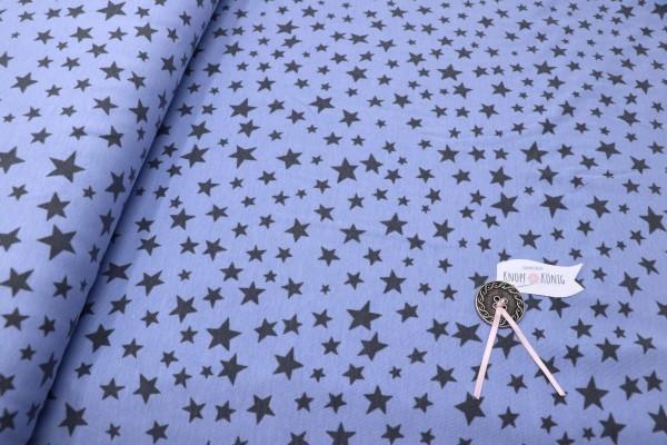 Baumwoll-Jersey blau mit Sternen