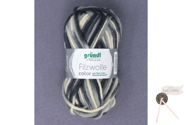 Filzwolle color, schwarz-weiß-grau multicolor