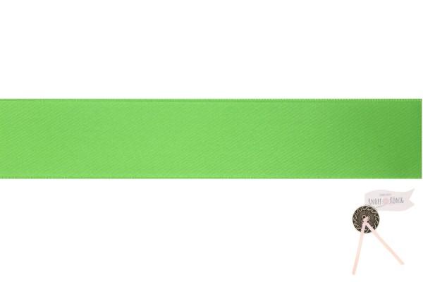 Satinband doppelseitig grasgrün, verschiedene Breiten