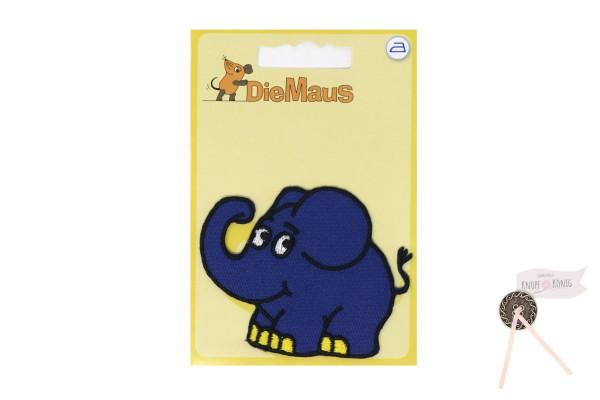 Applikation Sendung mit der Maus, Elefant 6x6cm