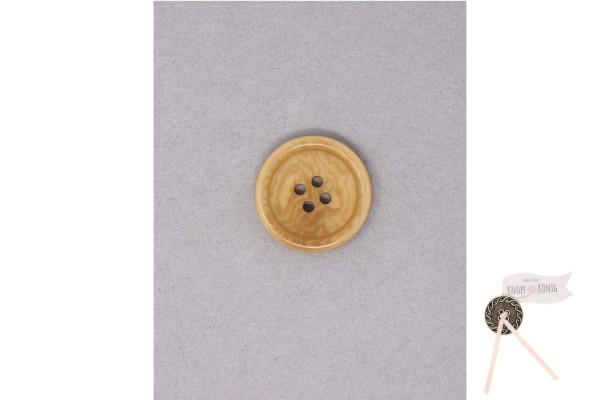 Herrenknopf echt Steinnuss 4-loch, beige