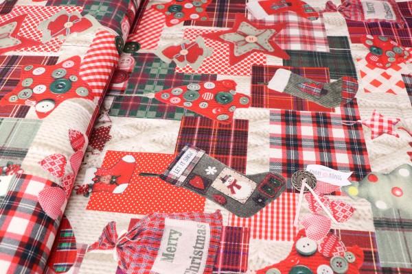 Canvas, Weihnachten patchwork