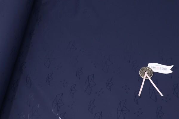 Regenjackenstoff dunkelblau, Schiffe