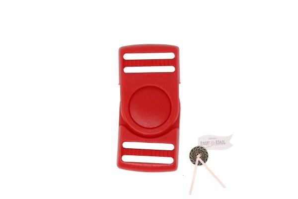 Steckschnalle rot, 25mm drehbar