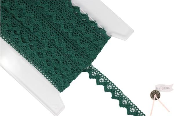Klöppelspitze dunkelgrün, 20mm