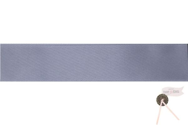Satinband doppelseitig grau, verschiedene Breiten