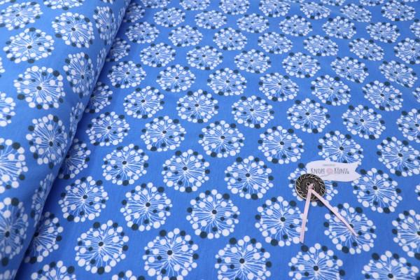 Sweat blau mit weißen Bumen