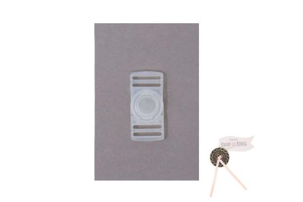 Steckschnalle transparent, 25mm drehbar