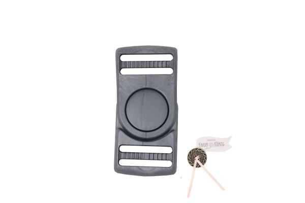 Steckschnalle silbergrau, 25mm drehbar