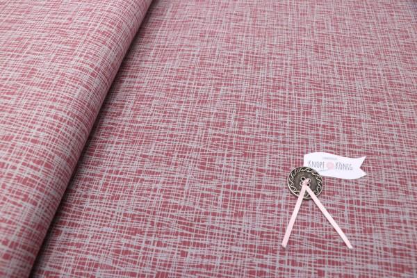 Jerseystoff rosa mit grauen Strichen