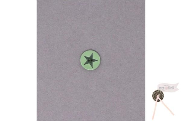 Kinderknopf Stern, 15mm lindgrün