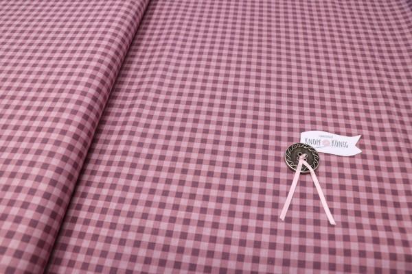 Karierter Baumwolldruck rosa