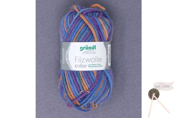 Filzwolle color, flieder-blau multicolor