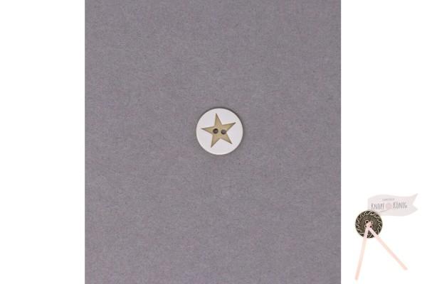 Kinderknopf Stern, 15mm beige