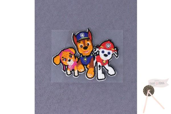 Applikation Paw Patrol Trio, zum Aufbügeln, 5,5x7,5cm