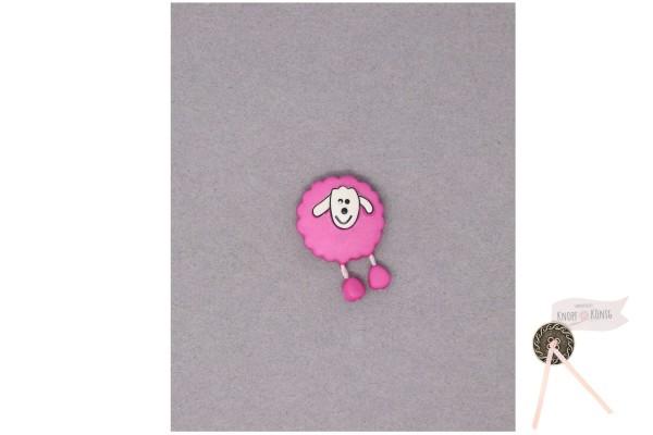 Kinderknopf Schaf, 18mm pink