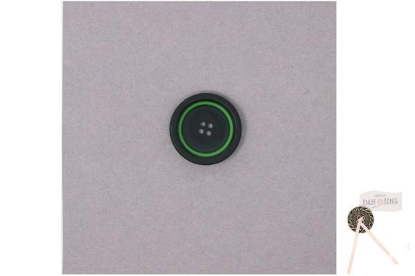 Damenknopf schwarz mit grünem Kreis