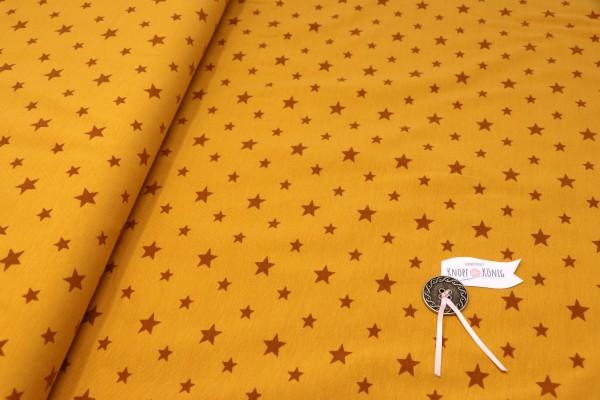Baumwoll-Jersey ocker mit Sternen