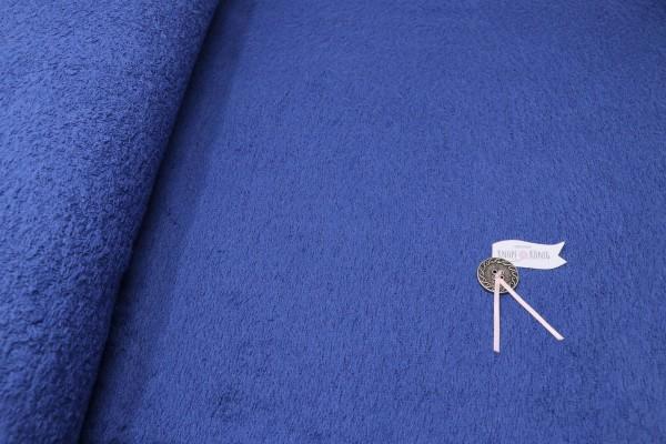 Frottee-Stoff royalblau