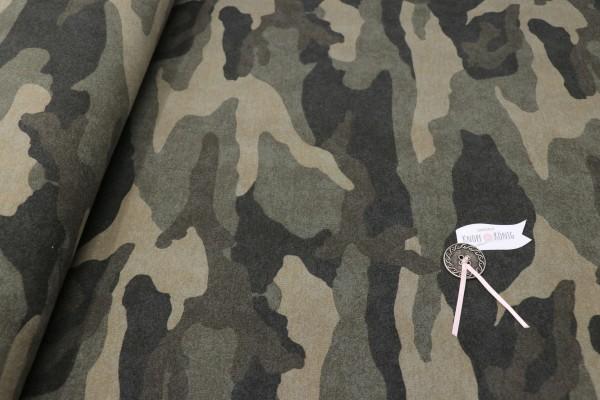 Sweat Shirt Camouflage grün