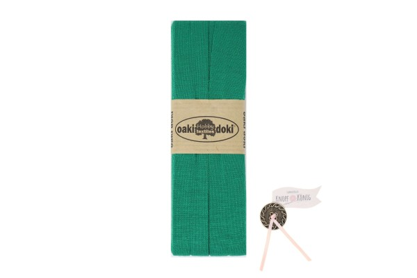 Jersey-Schrägband grün, 3m