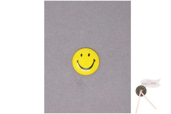 Kinderknopf Smiley, 20mm gelb