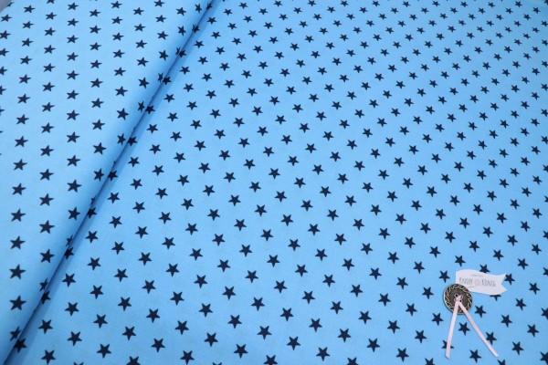 Hellblauer Baby-Cordstoff mit dunkelblauen Sternen