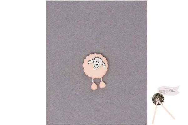 Kinderknopf Schaf, 18mm rosa