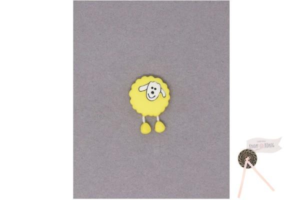 Kinderknopf Schaf, 18mm gelb
